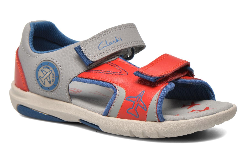 Sandales et nu-pieds Clarks FlyingSolo Inf Rouge vue détail/paire