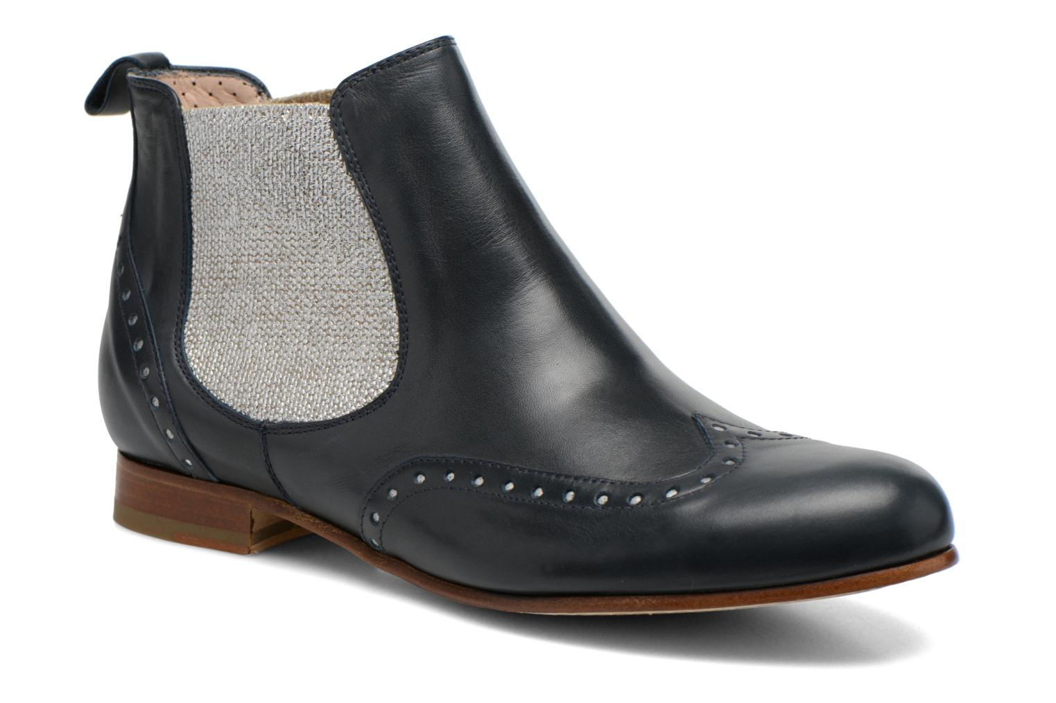 Ankle boots Georgia Rose Perla Blue detailed view/ Pair view