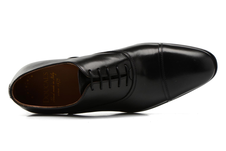 Snörade skor Doucal's Omar short Svart bild från vänster sidan