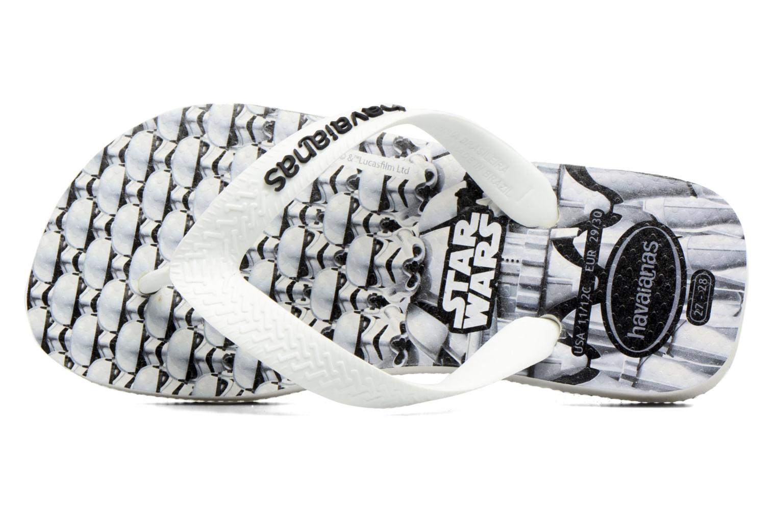 Flip flops Havaianas Kids Star Wars White view from the left