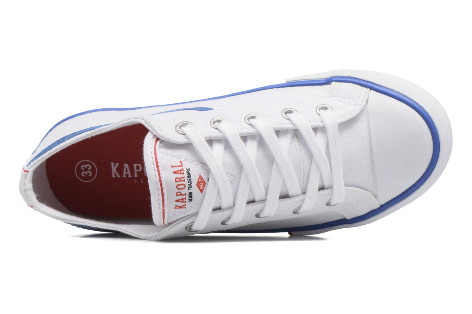 Trainers Kaporal Icario White view from the left