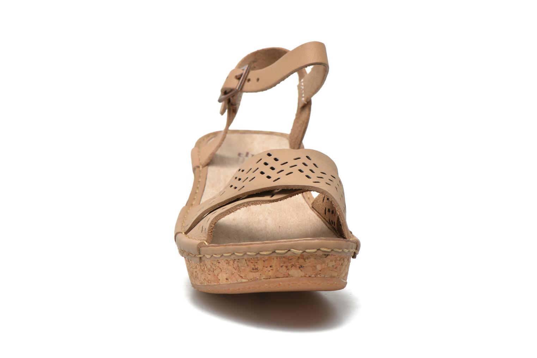 Sandales et nu-pieds TBS Alyson Beige vue portées chaussures