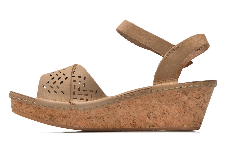 Sandals TBS Alyson Beige front view