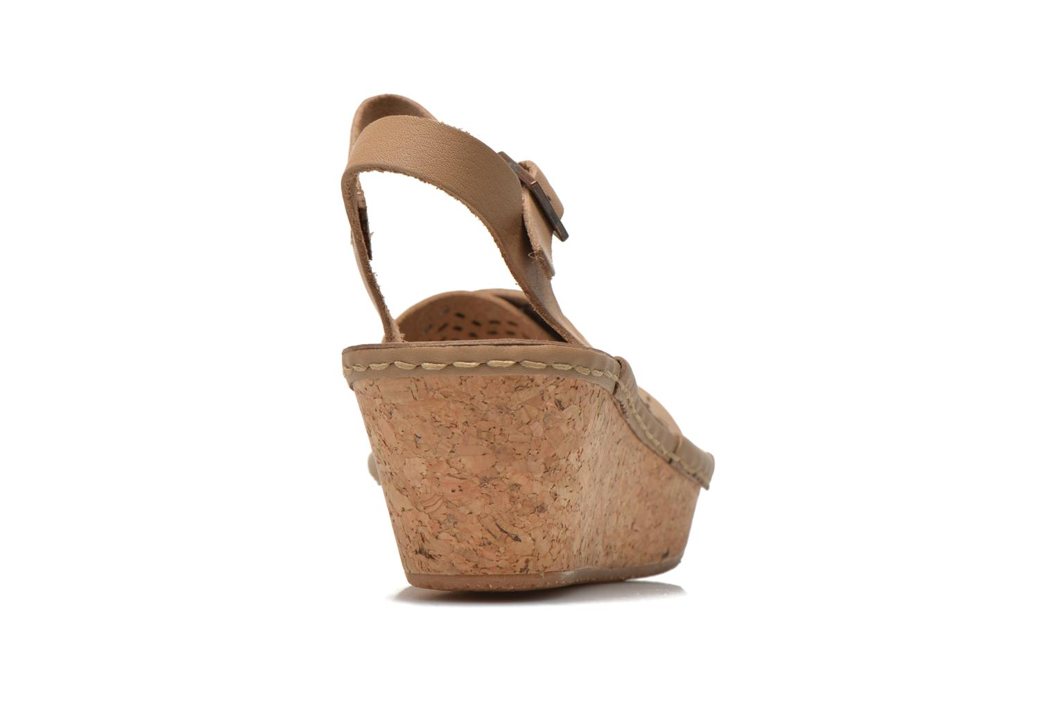 Sandals TBS Alyson Beige view from the right