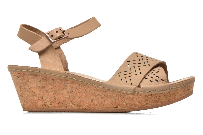 Sandals TBS Alyson Beige back view