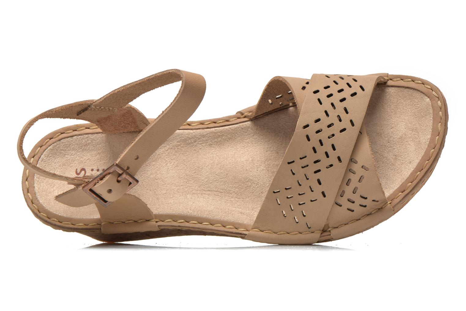 Sandals TBS Alyson Beige view from the left