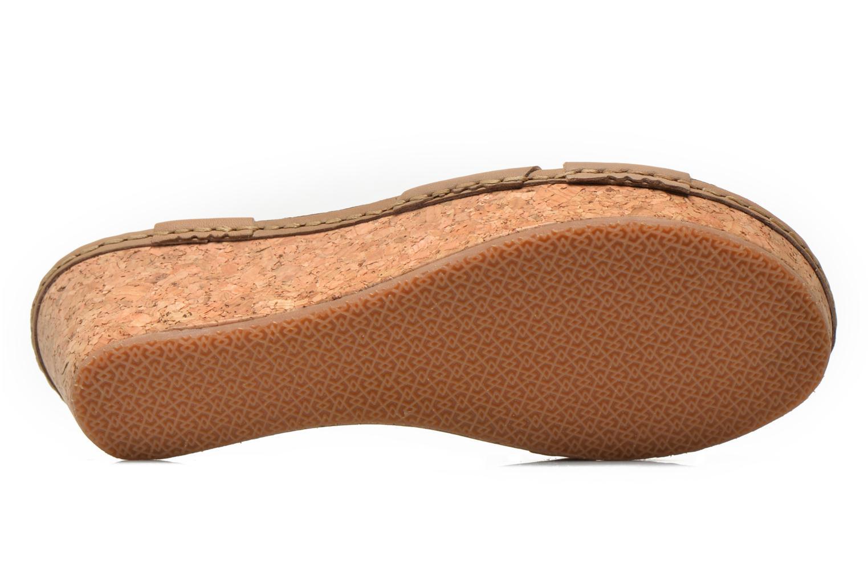 Sandales et nu-pieds TBS Alyson Beige vue haut