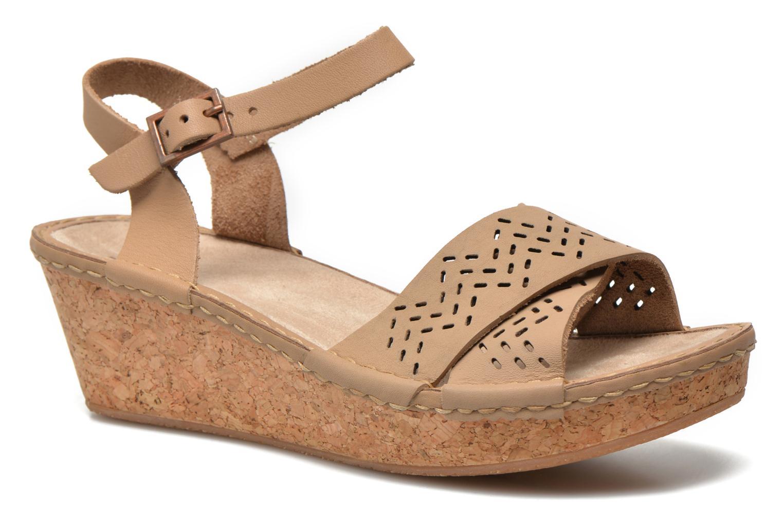 Sandales et nu-pieds TBS Alyson Beige vue détail/paire