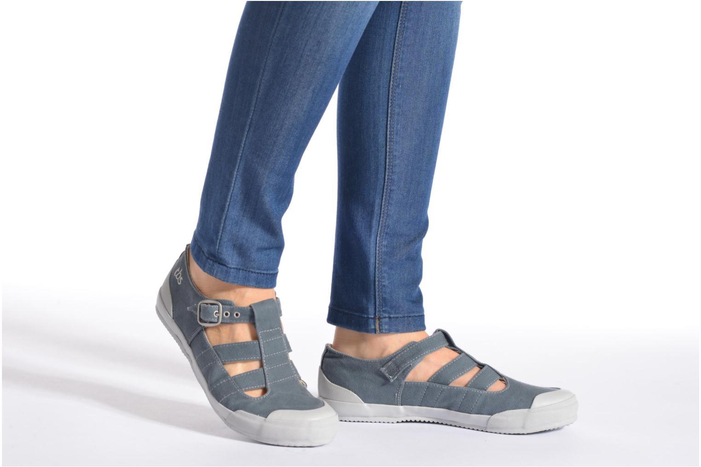 Sneaker TBS Oriele grau ansicht von unten / tasche getragen