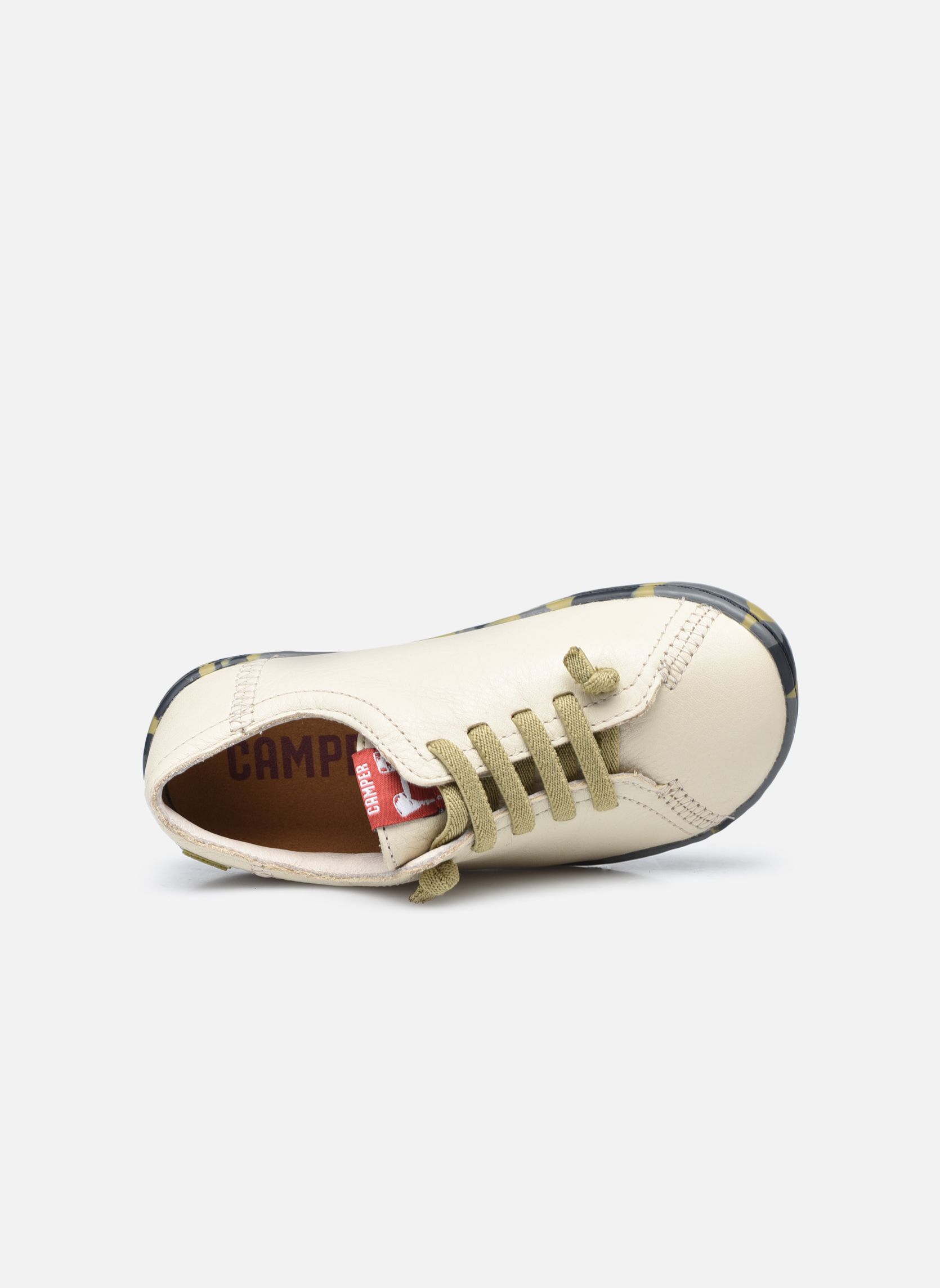 Trainers Camper Peu Low Cami Beige view from the left