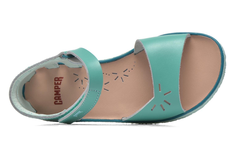 Sandalen Camper Miko blau ansicht von links