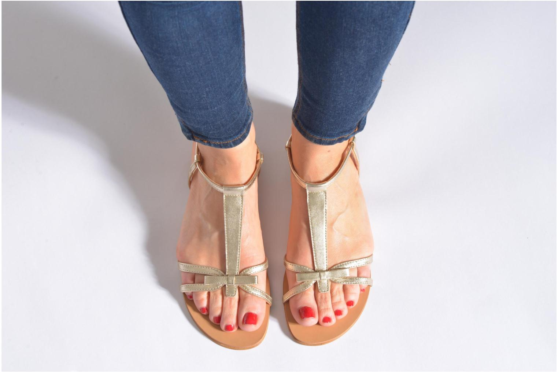 Sandales et nu-pieds Georgia Rose Calyou Noir vue bas / vue portée sac