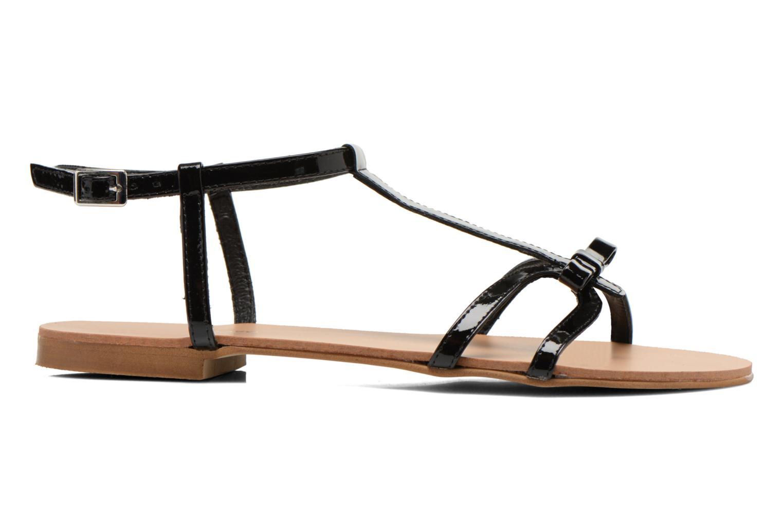 Sandales et nu-pieds Georgia Rose Calyou Noir vue derrière