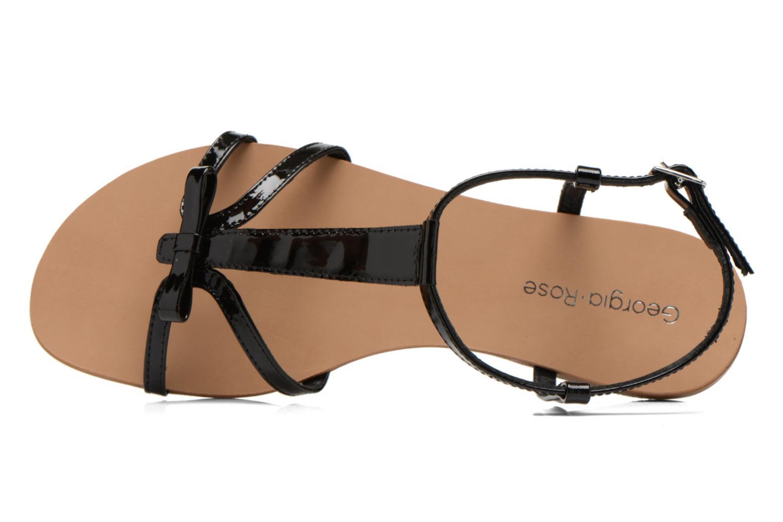 Sandales et nu-pieds Georgia Rose Calyou Noir vue gauche