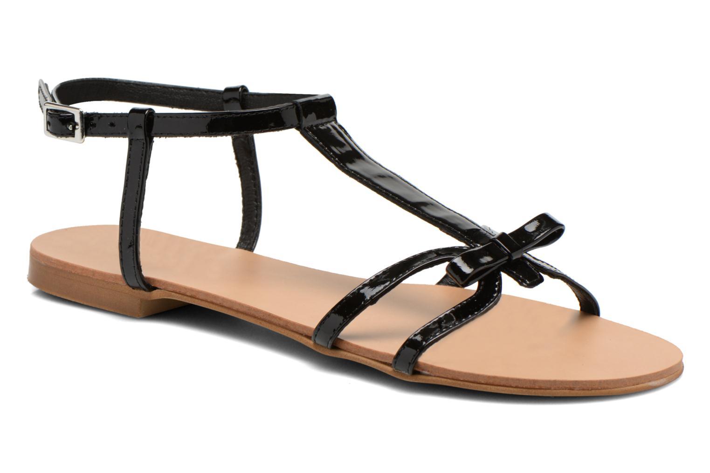 Sandales et nu-pieds Georgia Rose Calyou Noir vue détail/paire