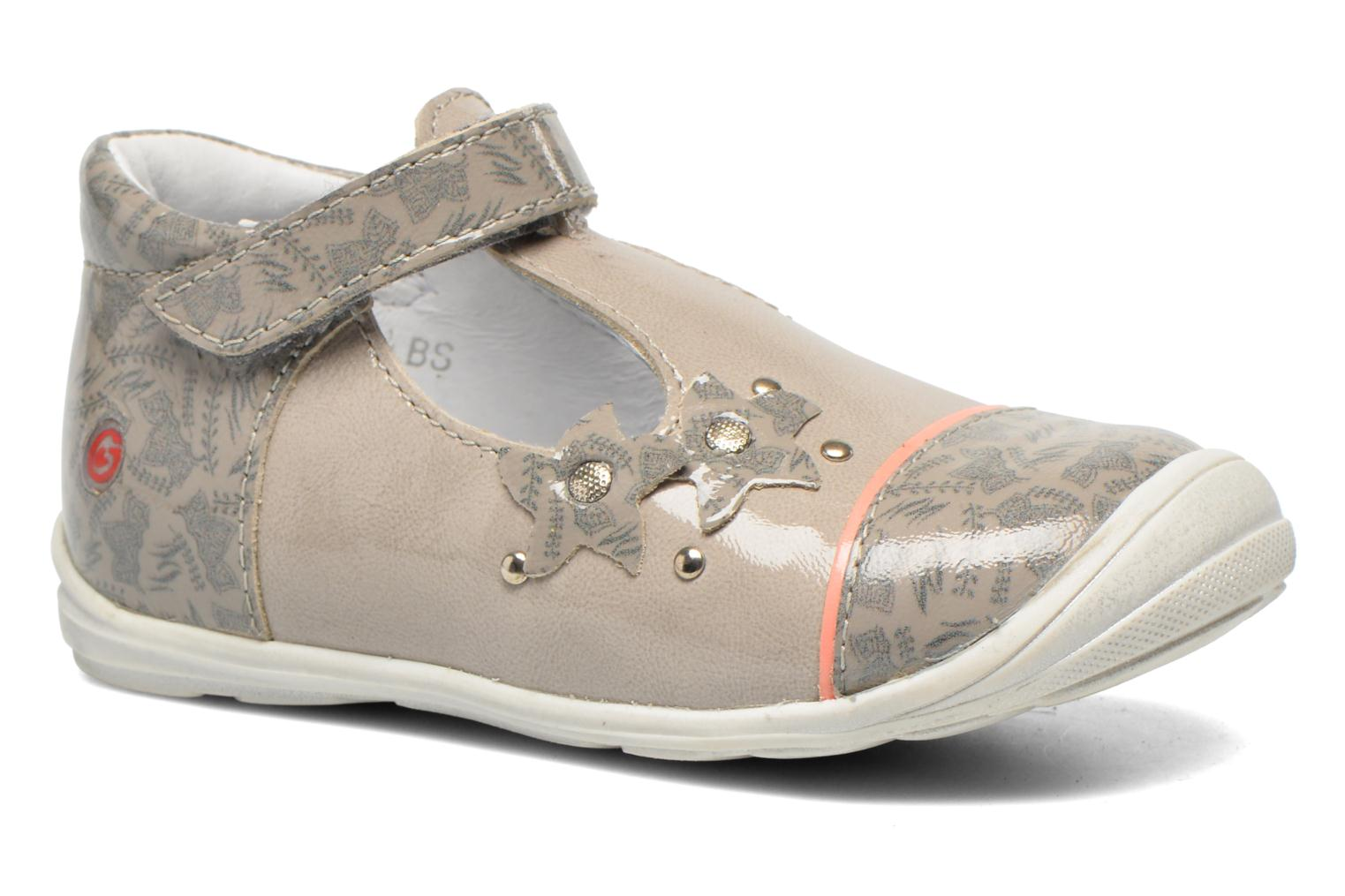 Velcro shoes GBB Melissa Grey detailed view/ Pair view