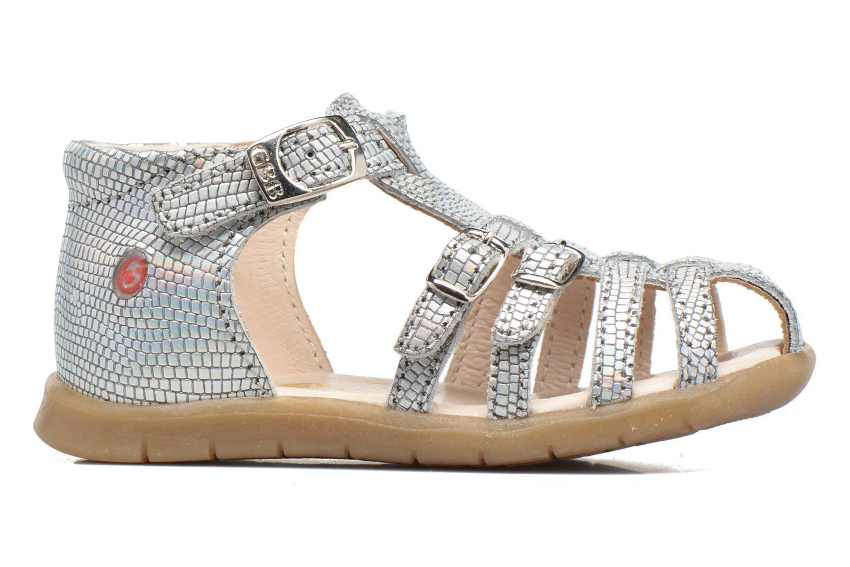 Sandales et nu-pieds GBB Mina Argent vue derrière