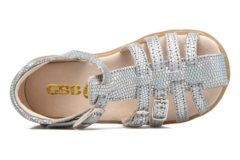 Sandales et nu-pieds GBB Mina Argent vue gauche