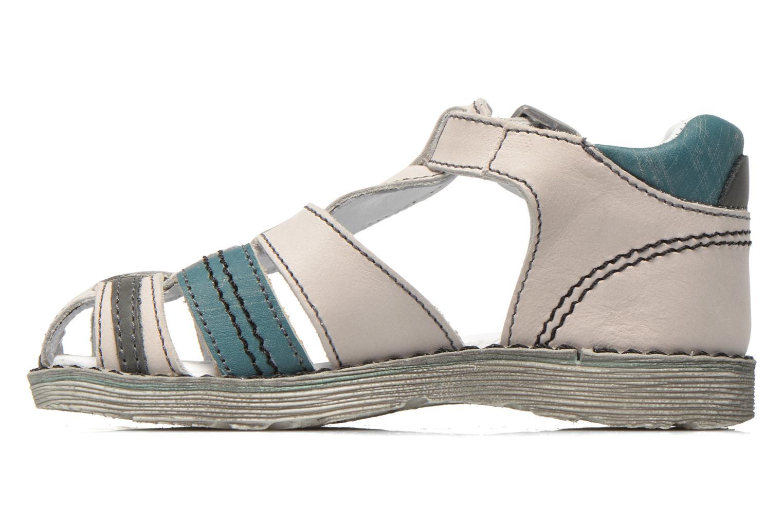 Sandales et nu-pieds GBB Max Gris vue face