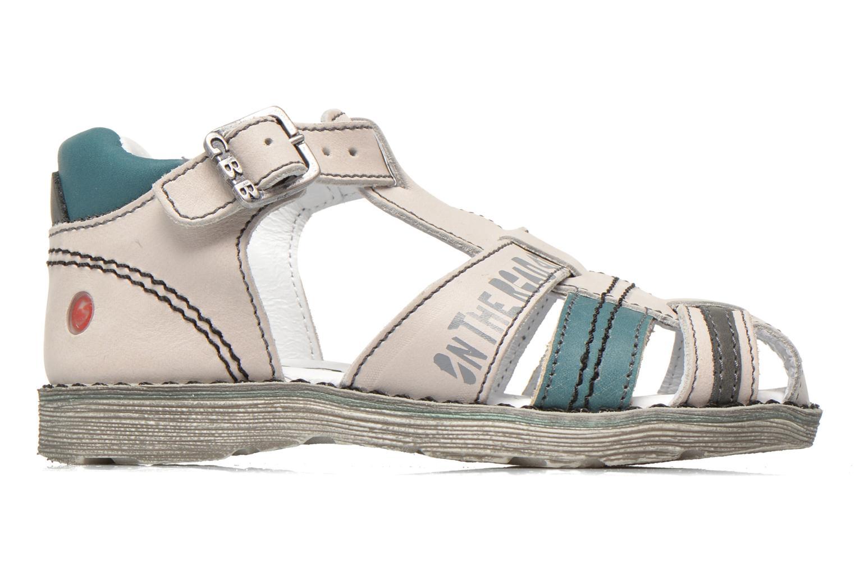 Sandales et nu-pieds GBB Max Gris vue derrière