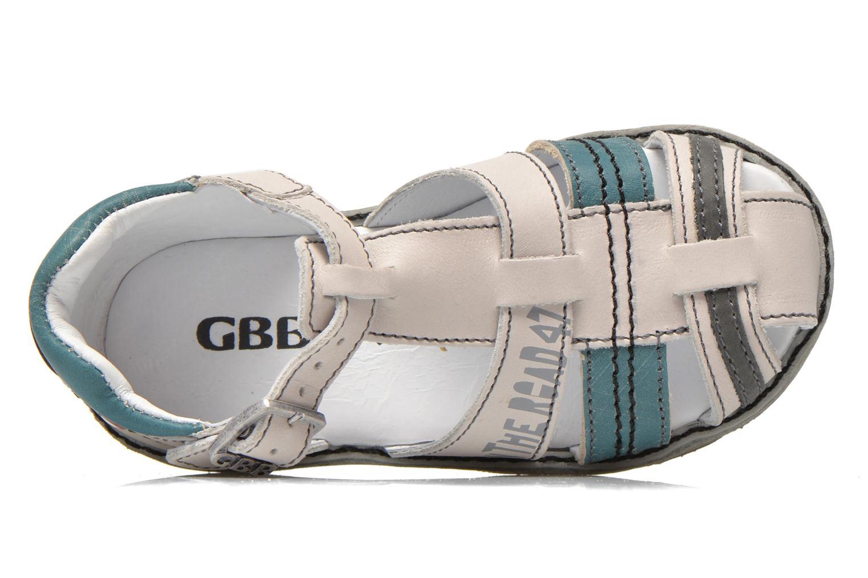 Sandales et nu-pieds GBB Max Gris vue gauche