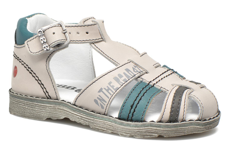 Sandales et nu-pieds GBB Max Gris vue détail/paire