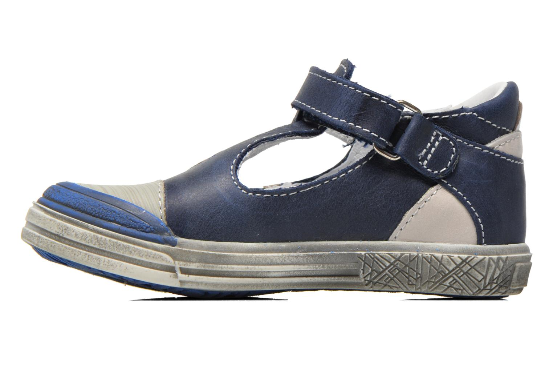 Zapatos con velcro GBB Mika Azul vista de frente