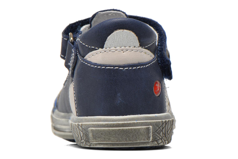 Zapatos con velcro GBB Mika Azul vista lateral derecha