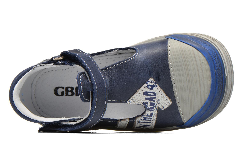 Zapatos con velcro GBB Mika Azul vista lateral izquierda
