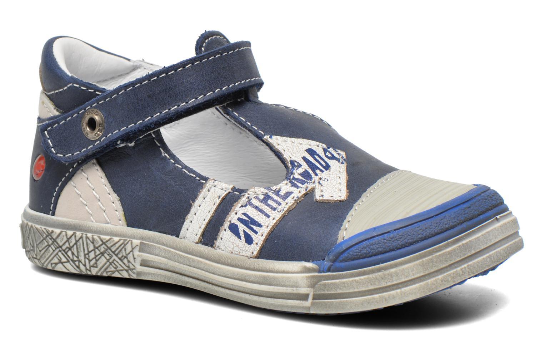 Zapatos con velcro GBB Mika Azul vista de detalle / par