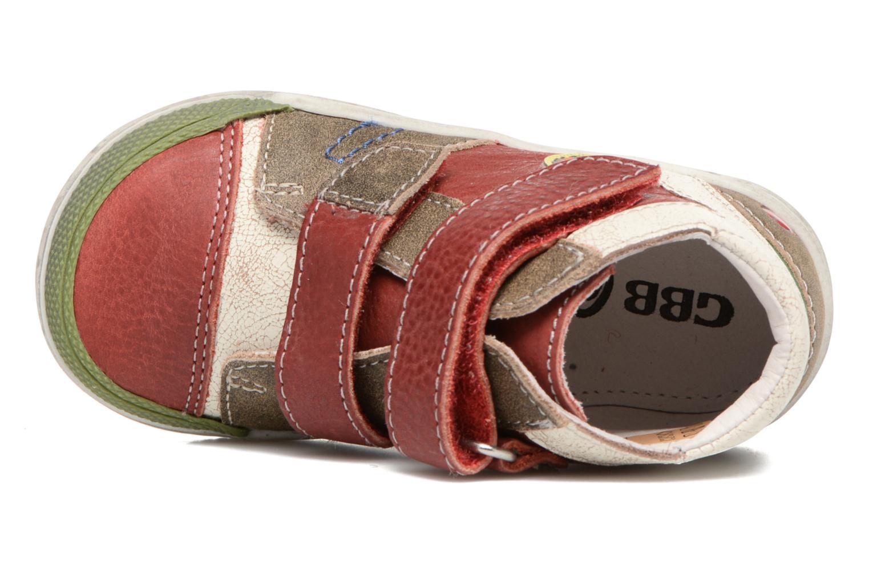 Bottines et boots GBB Medard Rouge vue gauche