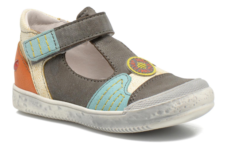 Chaussures à scratch GBB Mao Gris vue détail/paire