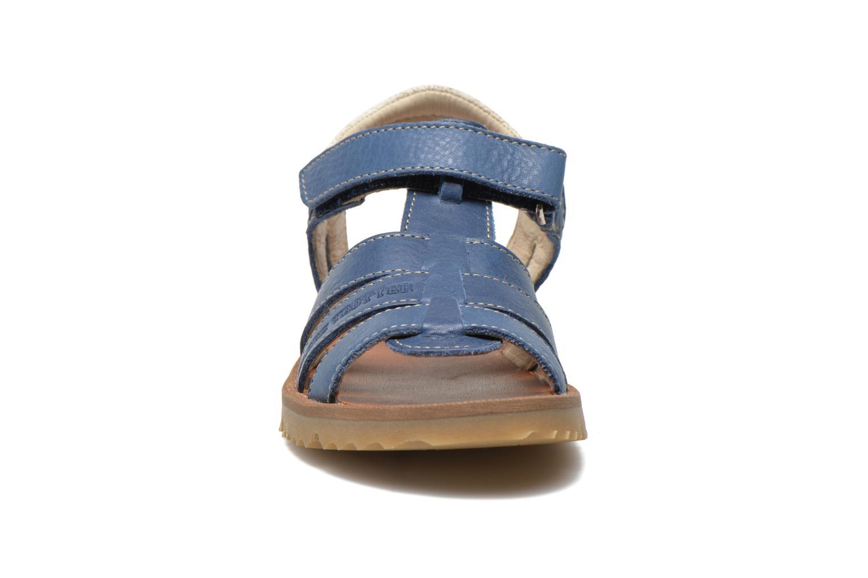 Sandalias GBB Martial Azul vista del modelo