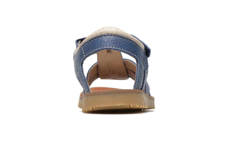 Sandalias GBB Martial Azul vista lateral derecha