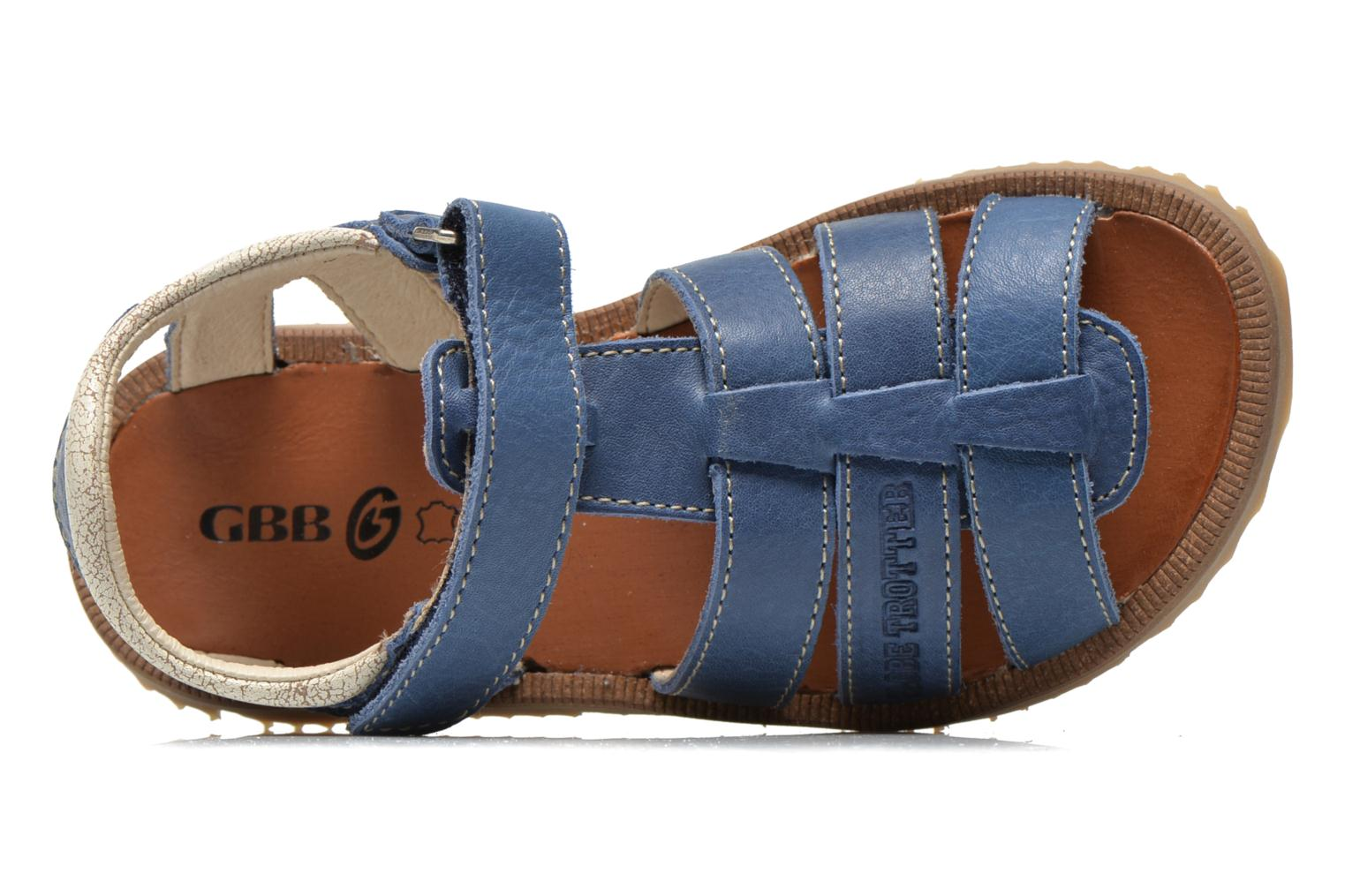 Sandals GBB Martial Blue view from the left