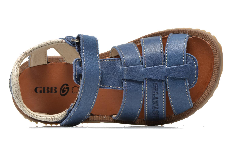 Sandalen GBB Martial blau ansicht von links