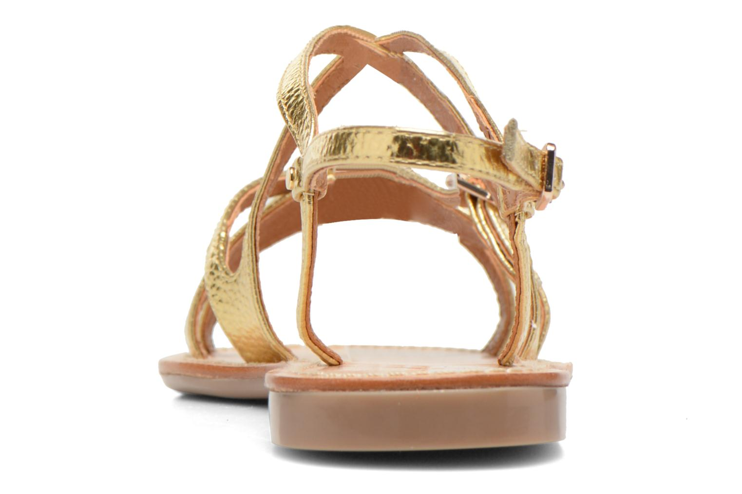 Sandals Mellow Yellow Vanille Bronze and Gold view from the right