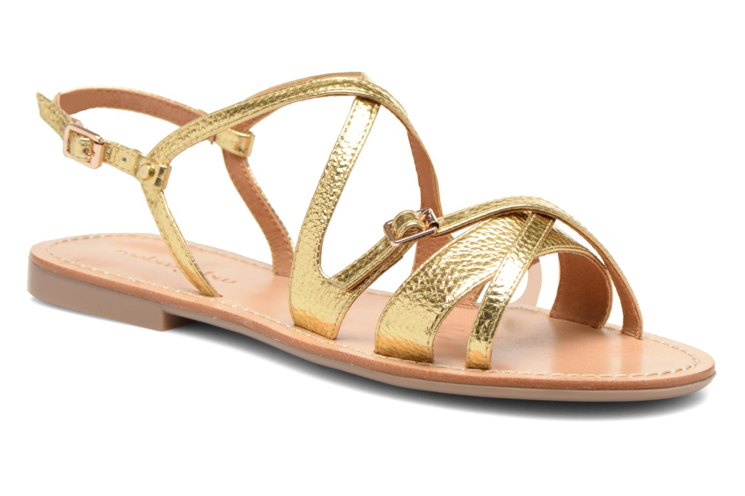 Sandals Mellow Yellow Vanille Bronze and Gold detailed view/ Pair view