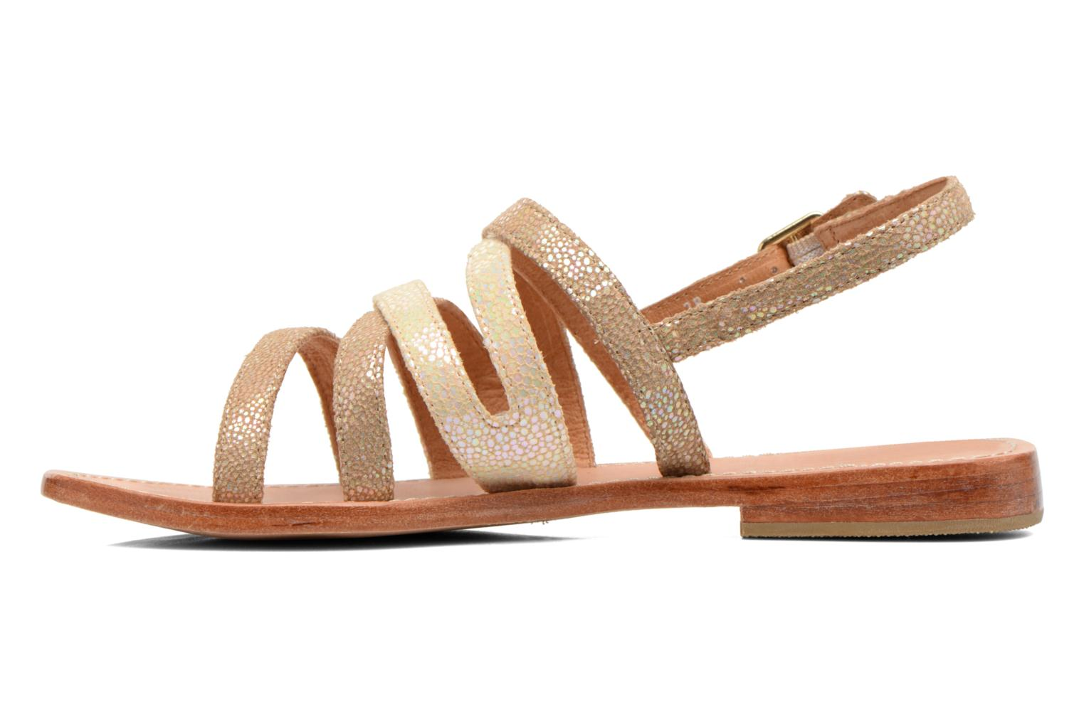 Sandals Mellow Yellow Valoma Beige front view
