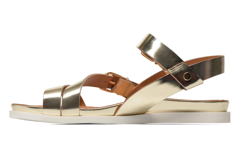 Sandales et nu-pieds Mellow Yellow Vindia Or et bronze vue face