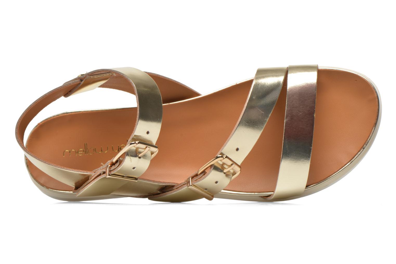 Sandales et nu-pieds Mellow Yellow Vindia Or et bronze vue gauche