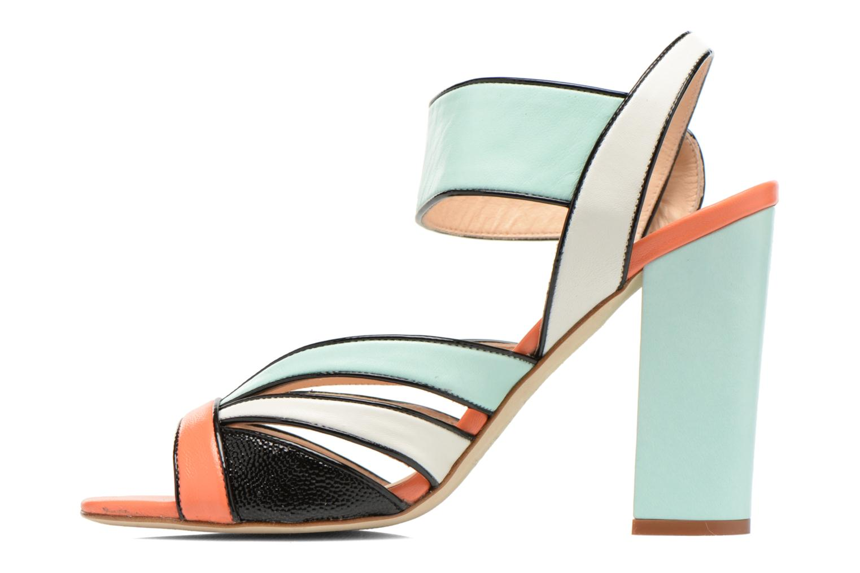 Sandales et nu-pieds COSMOPARIS Adiana Multicolore vue face