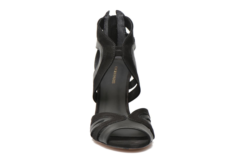 Sandales et nu-pieds COSMOPARIS Jamil Noir vue portées chaussures