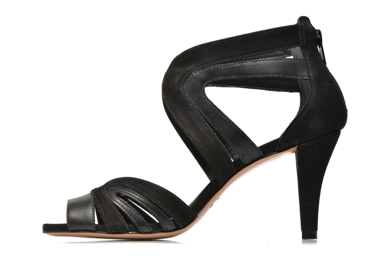 Sandales et nu-pieds COSMOPARIS Jamil Noir vue face