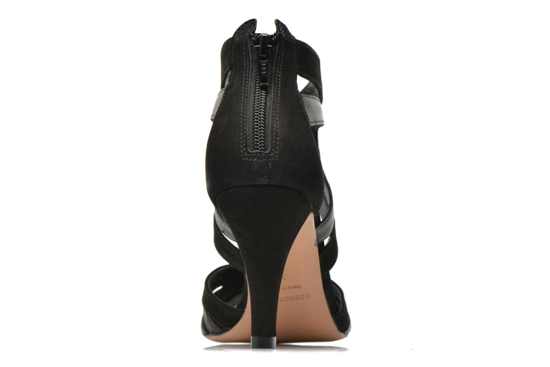 Sandales et nu-pieds COSMOPARIS Jamil Noir vue droite