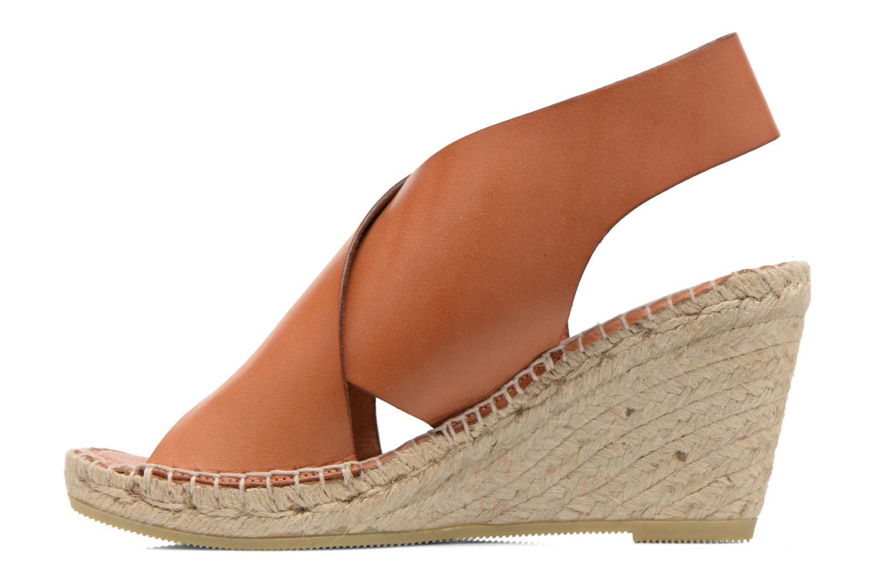 Sandals COSMOPARIS Ipia Brown front view