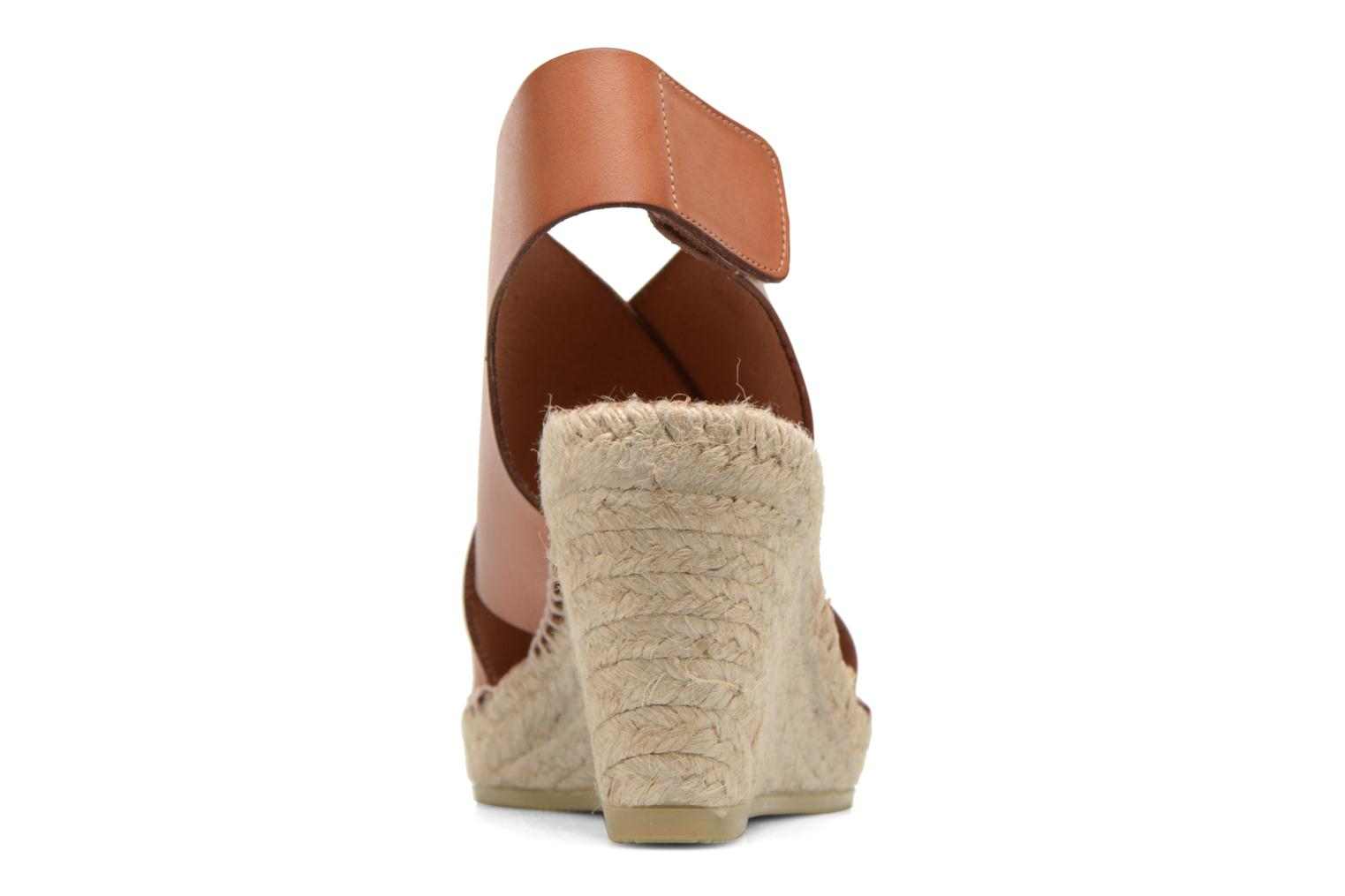 Sandals COSMOPARIS Ipia Brown view from the right