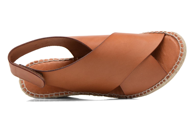 Sandales et nu-pieds COSMOPARIS Ipia Marron vue gauche