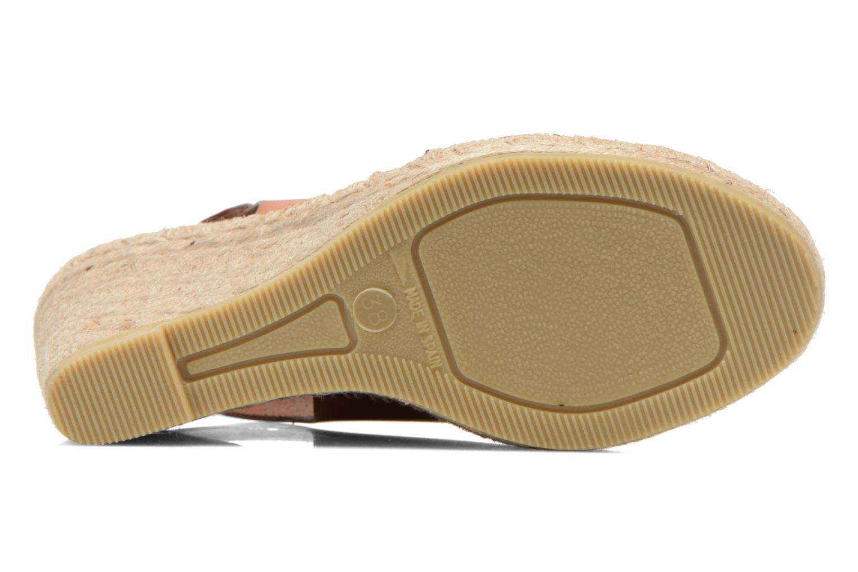 Sandales et nu-pieds COSMOPARIS Ipia Marron vue haut