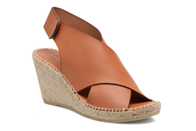 Sandals COSMOPARIS Ipia Brown detailed view/ Pair view